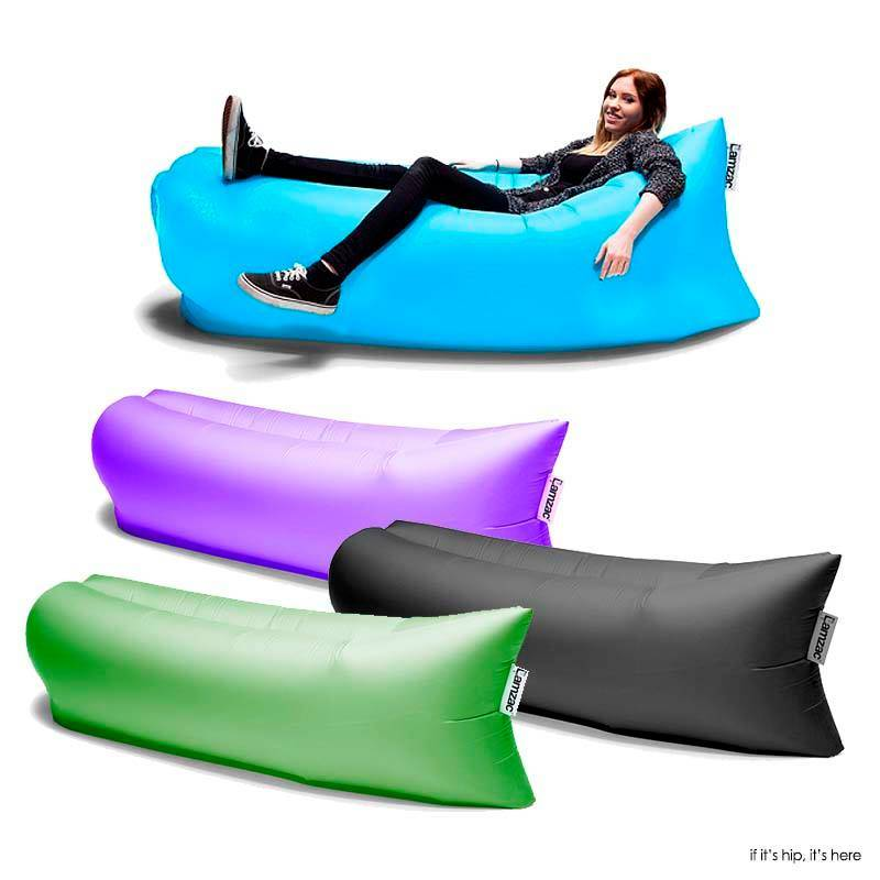 New Style Outdoor Lazy Sofa Lamzac Hangout Fast Inflatable Sofa Air Bed Lounge Chair