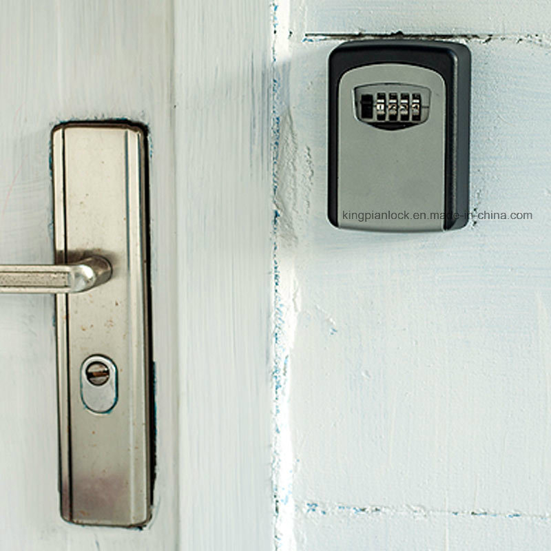 Mounted Key Storage Safe Box with Resettable Lock Combination