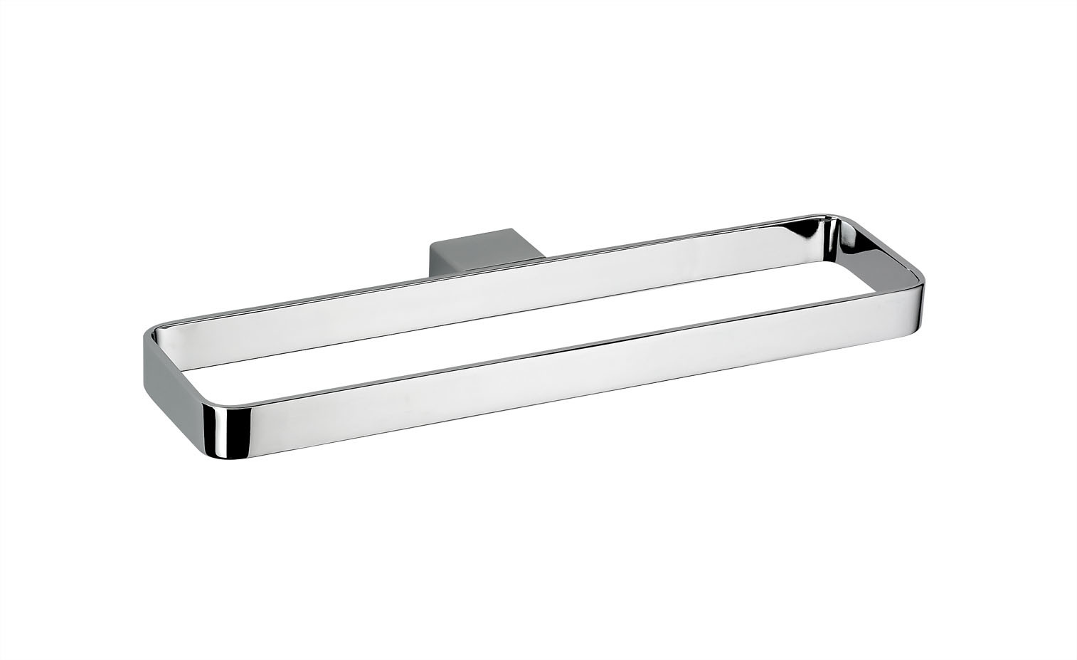 Stylish Square Solid Brass Bathroom Double Towel Bar