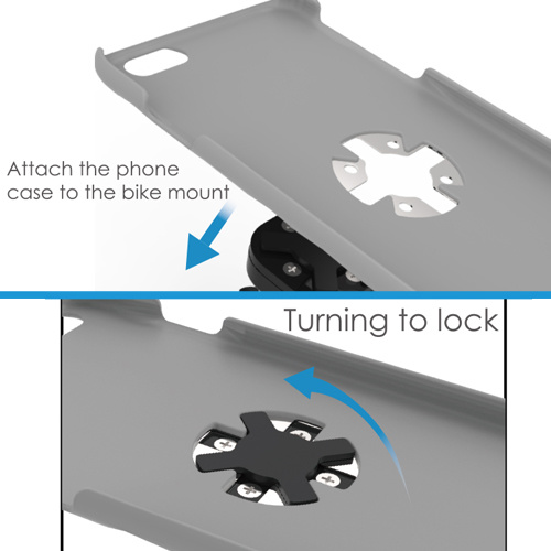 Fast Lock Adjustable Running Armband Mount Case for iPhone Holder