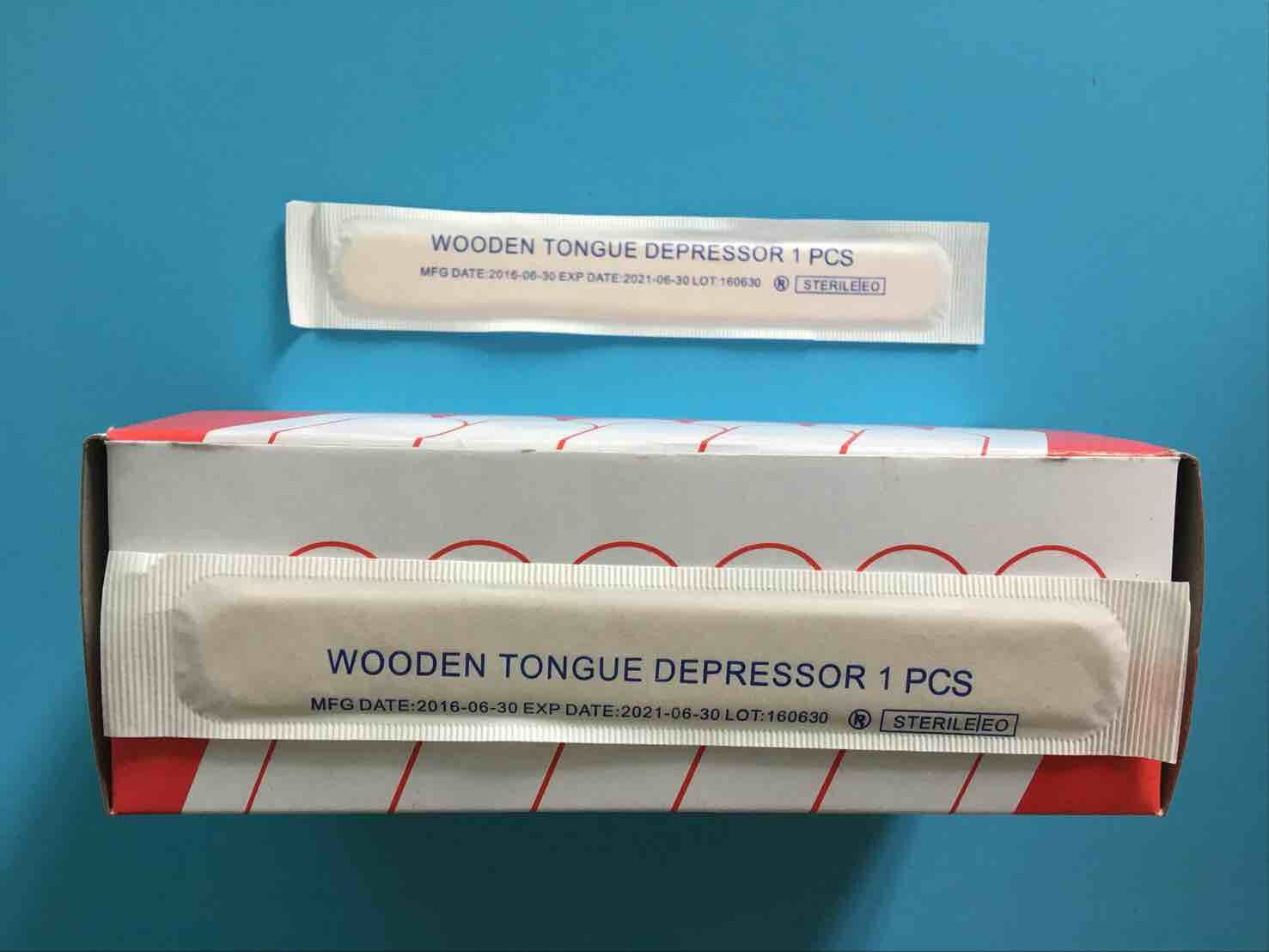 Disposable Wooden Tongue Depressor /Wooden Spatula for Adult and Child