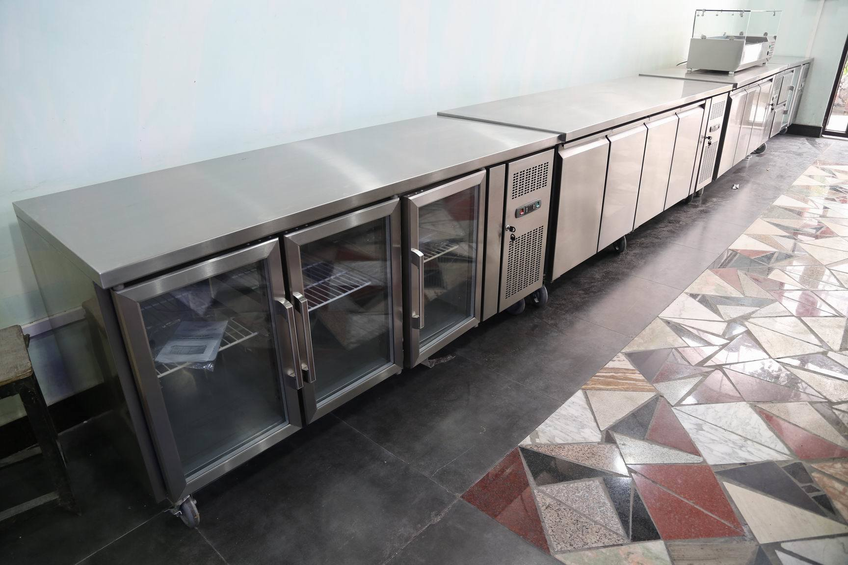 Stainless Steel Salad Refrigerator with Ce