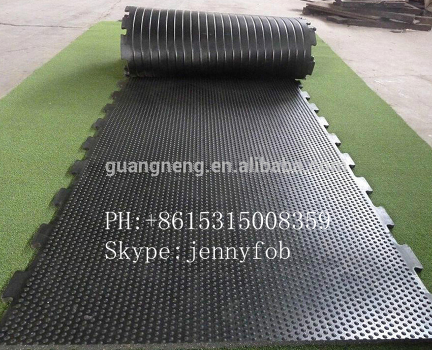 18mm Bobbletop Rubber Stable Mat, Cow Horse Stall Matting