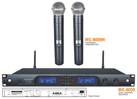 Professional UHF Microphone Series (MC-8008)