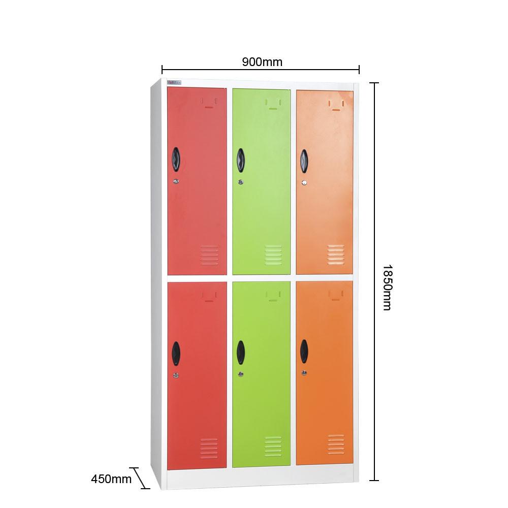 Yellow 6 Door Metal Storage Locker