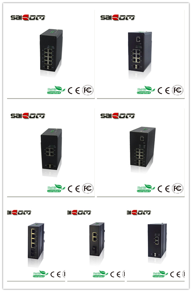 Saicom(SCSW-05041)100Mbps 1FX/4FE Industrial Unmanaged Fiber Network Switch