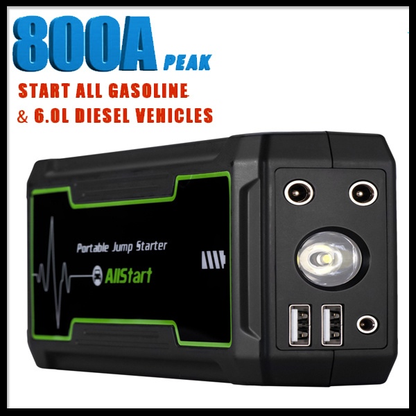 12V 800A Peak Current Mini Car Emergency Auto Jump Starter Power Bank 16800mAh