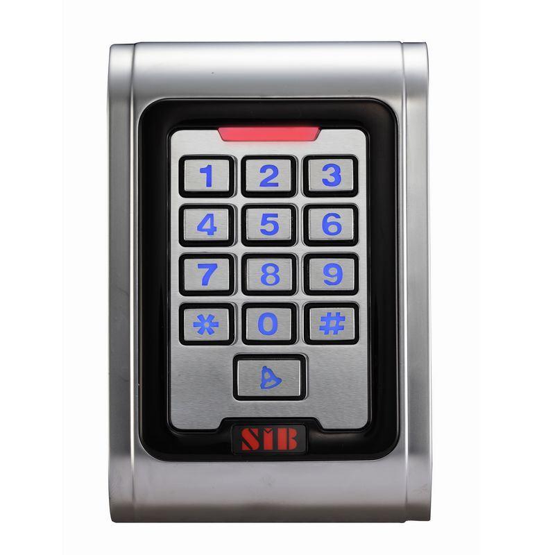 Access Control Garage Door Keypad Door Keypad Lock Waterproof IP68 Metal Case RFID 125kHz Keypad Single Door Stand-Alone with 2000 Users for Outdoor and Indoor