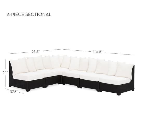 Luxury 6 Piece Sofa Seating Group with Cushion
