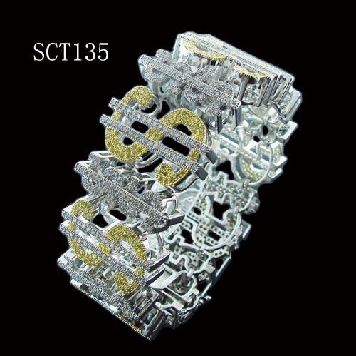 hip hop 925 sterling silver jewelry bracelet sct135