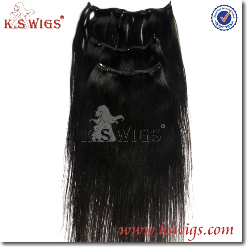 100% European Human Virgin Clip in Hair Extension