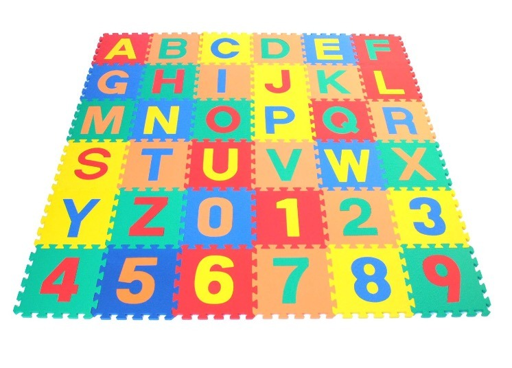 10PCS Interlocking EVA Foam Soft Mat Educational Numbers Mat Quzzle Tile for Kids Baby