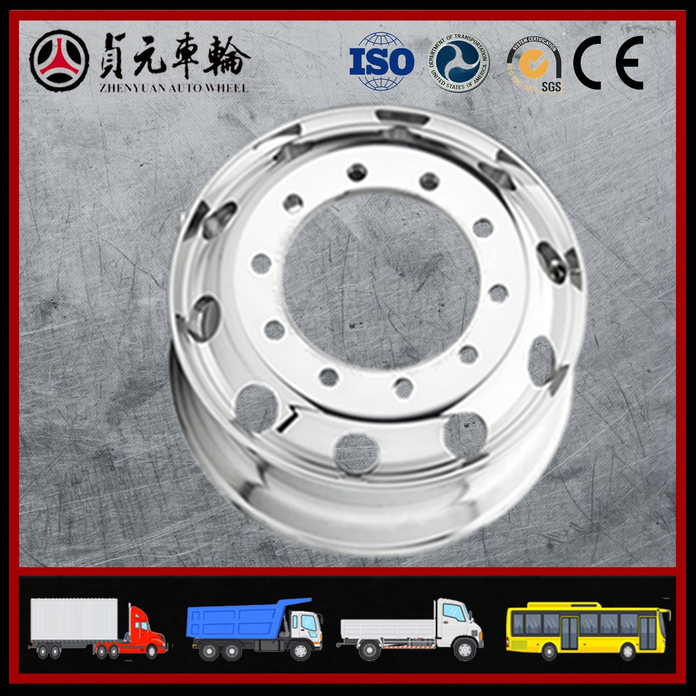 Aluminium Alloy Truck Wheel Rims/Forged Alloy Wheels/Manufacturer Factory (22.5*9.00 8.25)