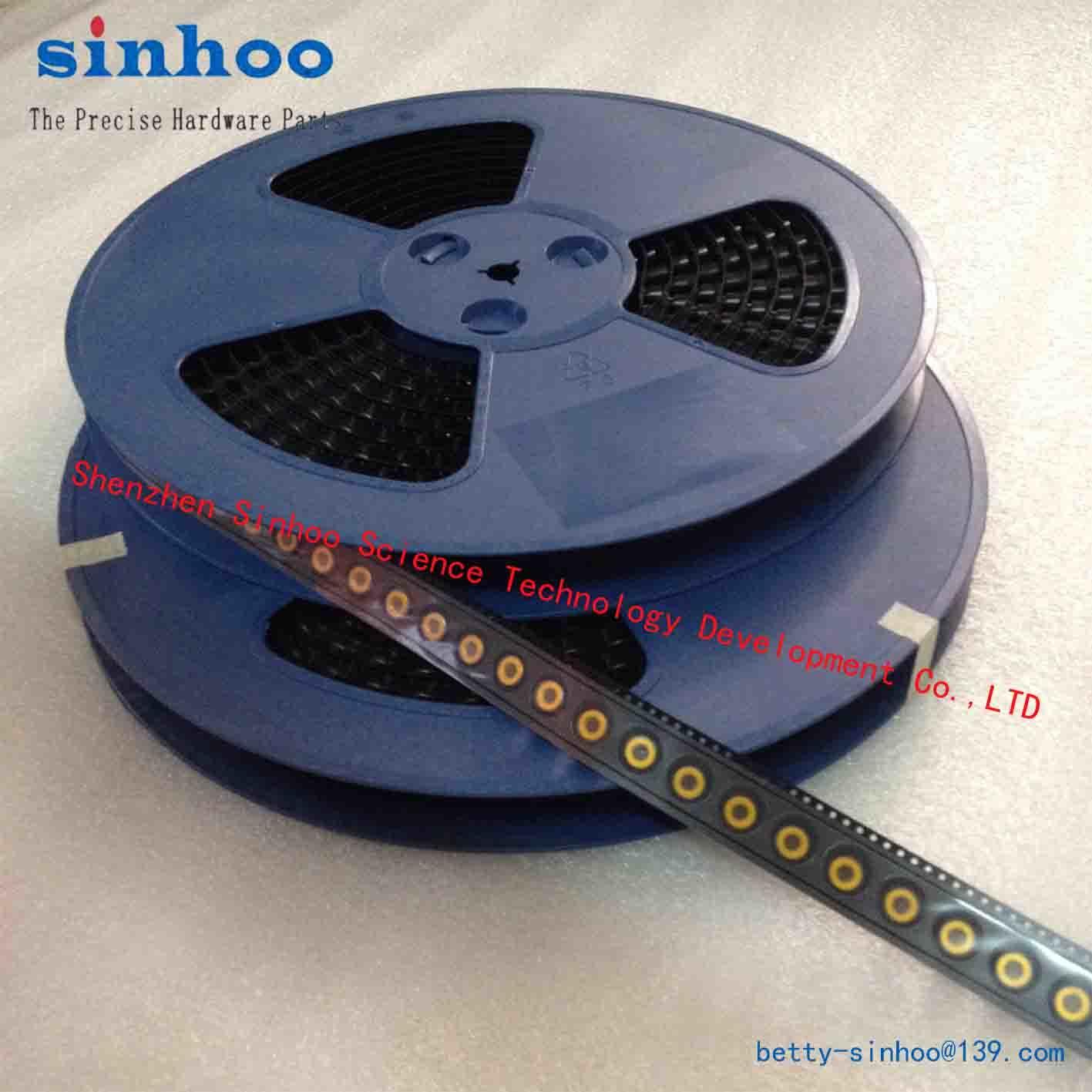 SMT Nut, Weld Nut, Smtso-M2.5-3.5et, Reel Package, Solder Nut, Standoff, Brass Reel