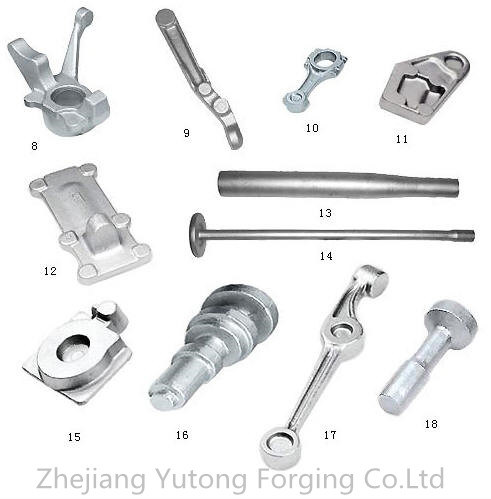Steel Forging Machinery Part Forged Parts for Railway Locomotive Parts