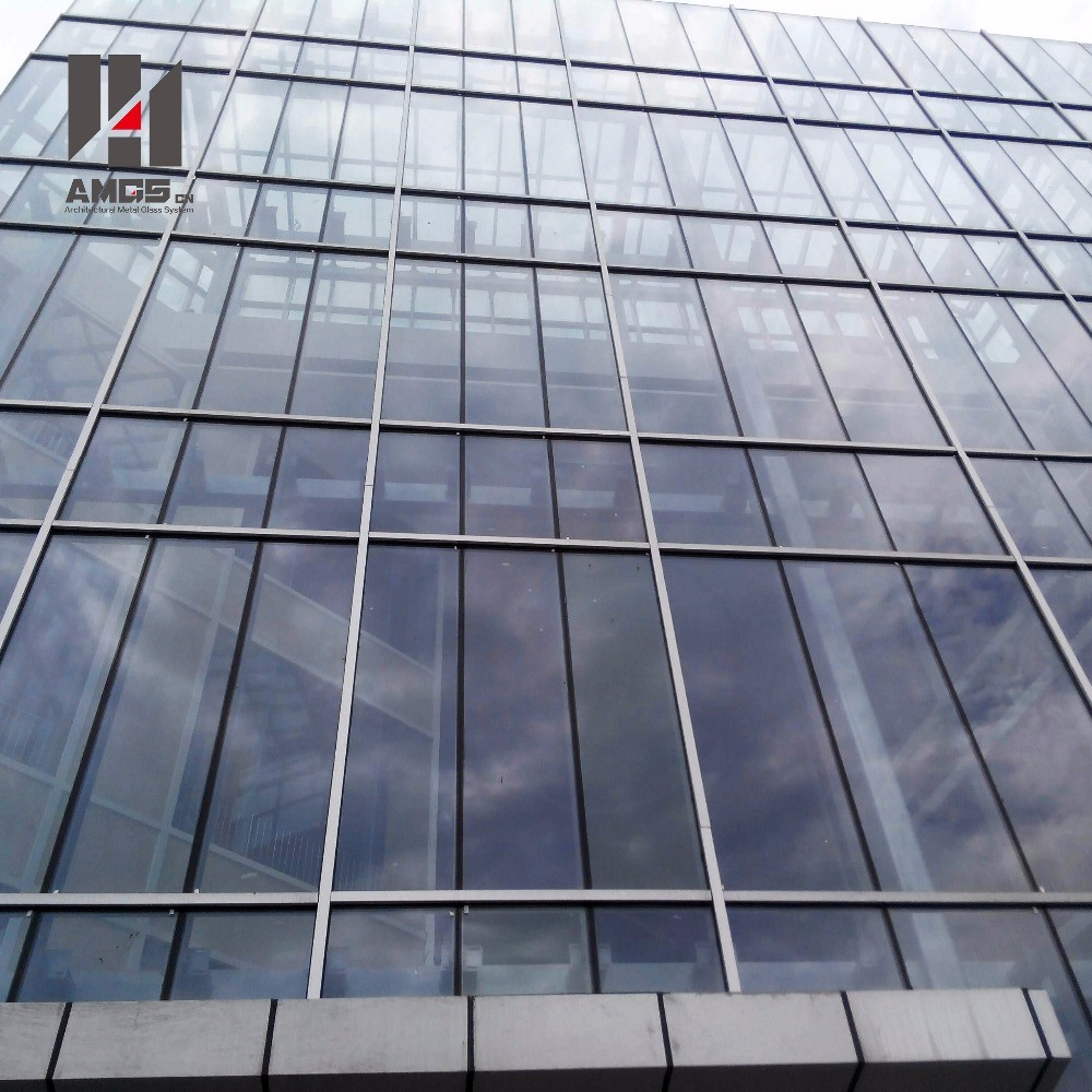Commercial Building Fabrication and Engineering Low-E Glass Aluminum Frame Glass Curtain Wall