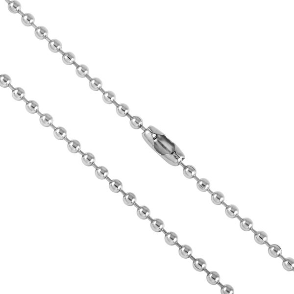 Silver Tone Ball Chain Bead Chain Stainless Steel Chain