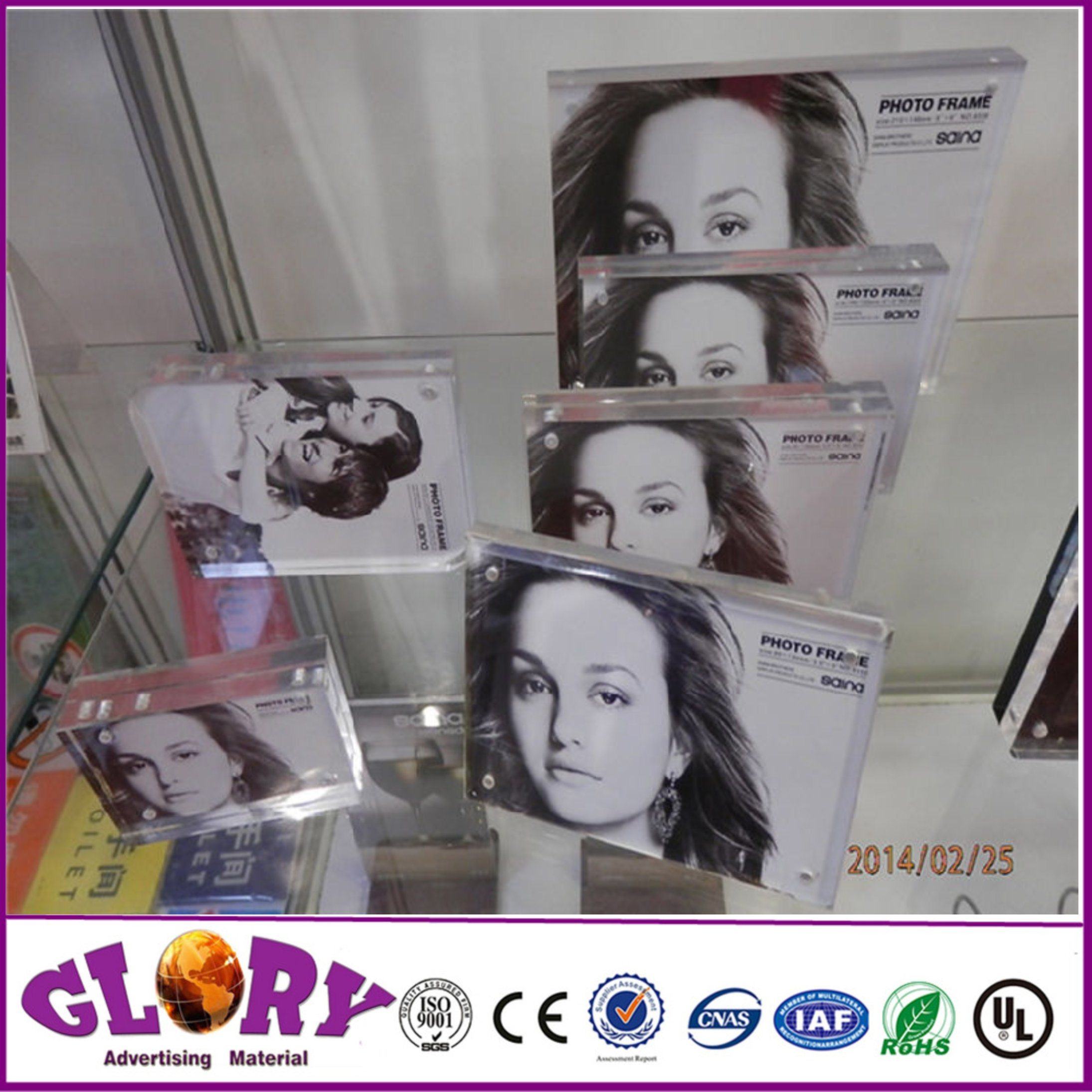 High Quality Photo Picture Frame Magnetic Acrylic Photo Frame
