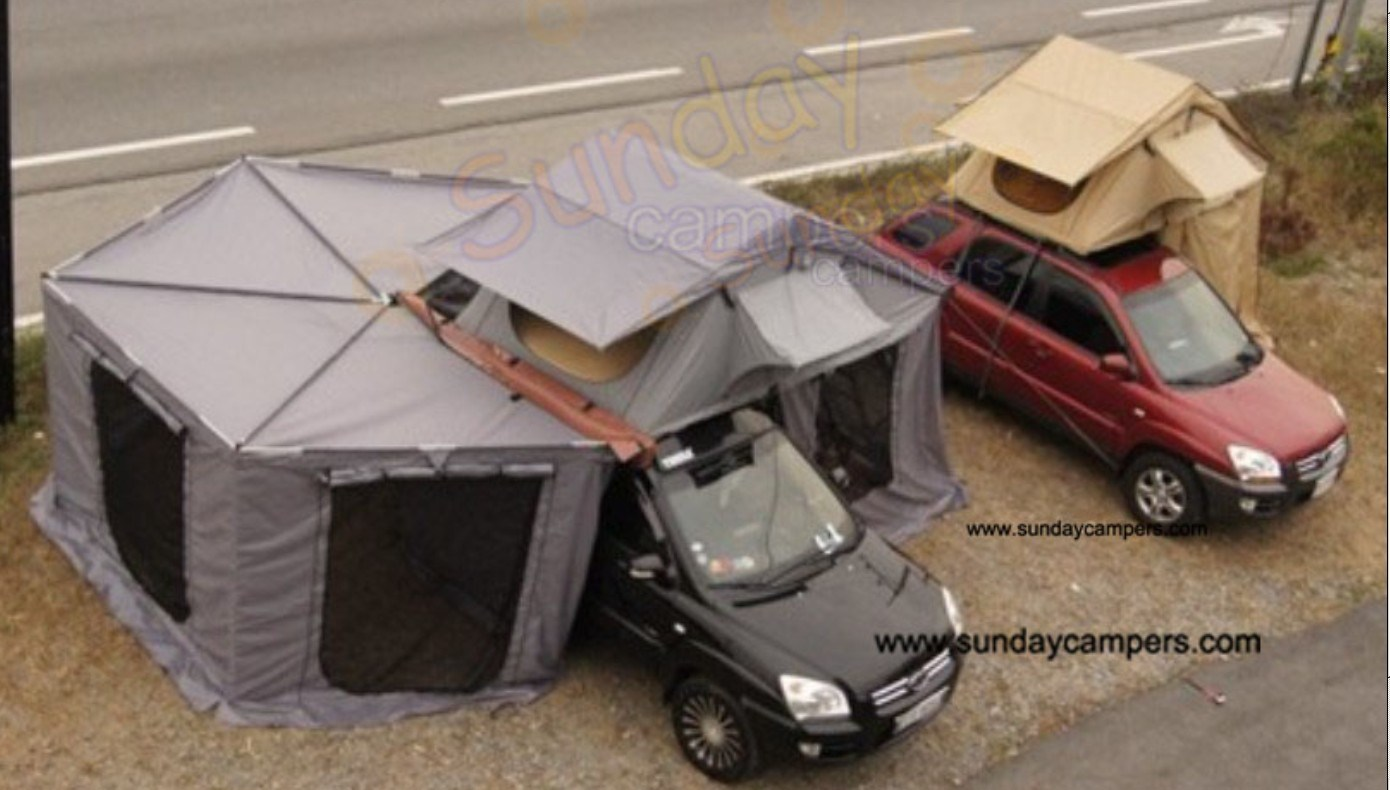 China 2013 Double Layers Canvas Car Roof Tents Roof Top