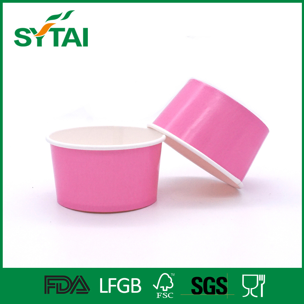 Disposable Custom PE Coated Ice Cream Paper Cup Bowl with Fruit Pattern
