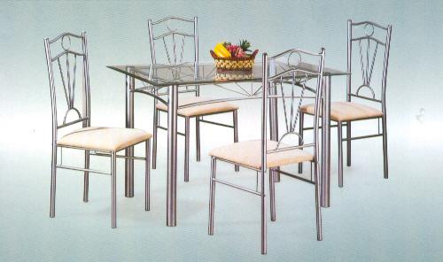 Dining table steel dining table designs for Steel dining table design