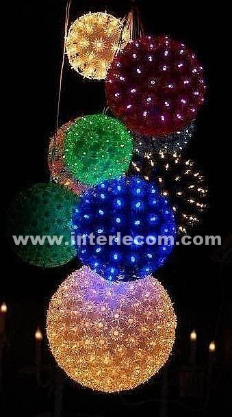 China Christmas Light Chain with LED for Decoration Light (ball ...