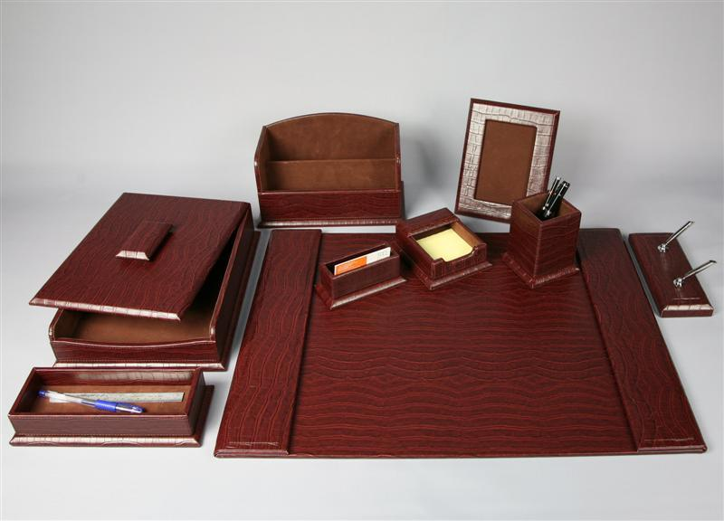 Leather desktop set (desk set 1)