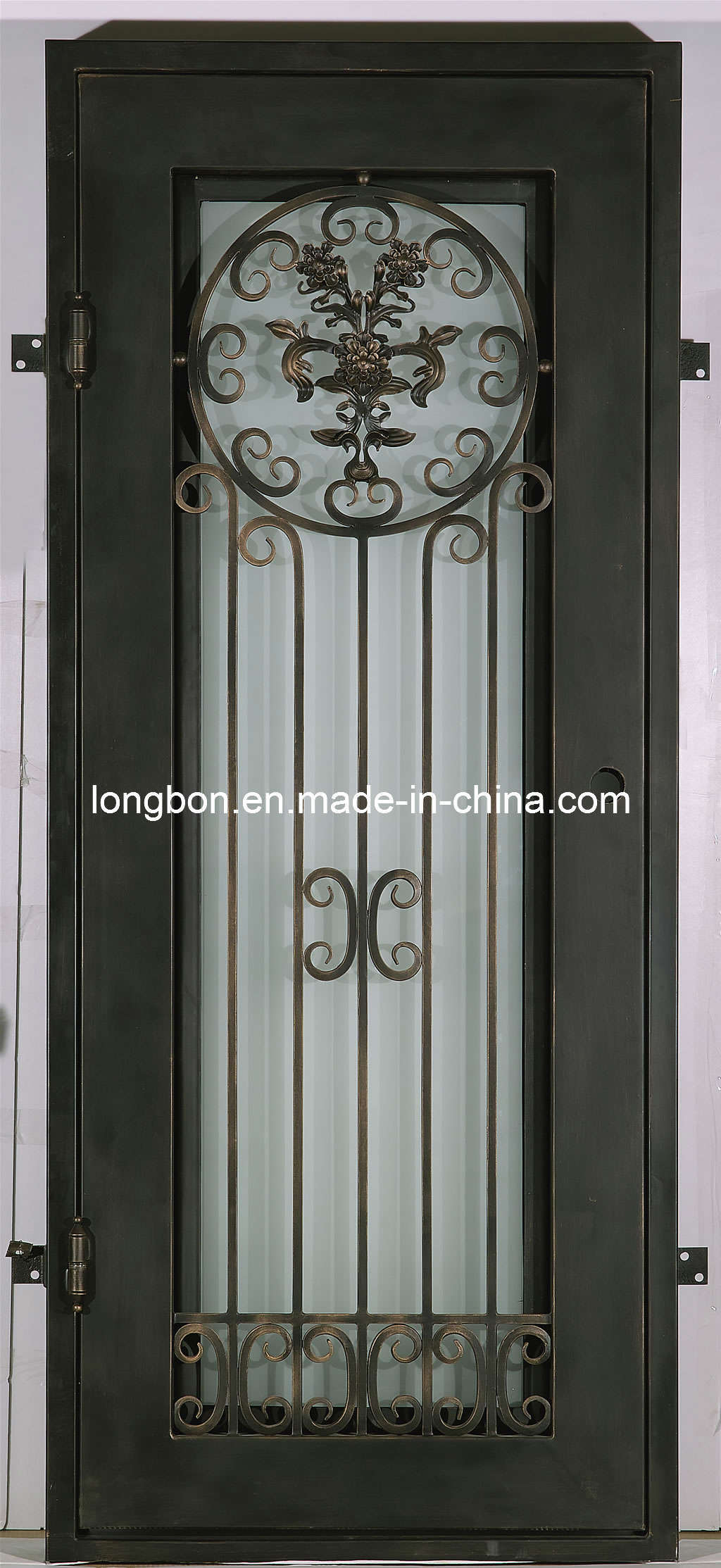 China 2012 Modern Wrought Iron Entrance Door Lb I D 0010