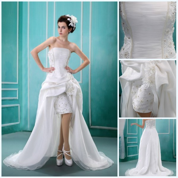 China Short Front And Long Back Weding Dress 2012 BS 009 China Wedding Dr