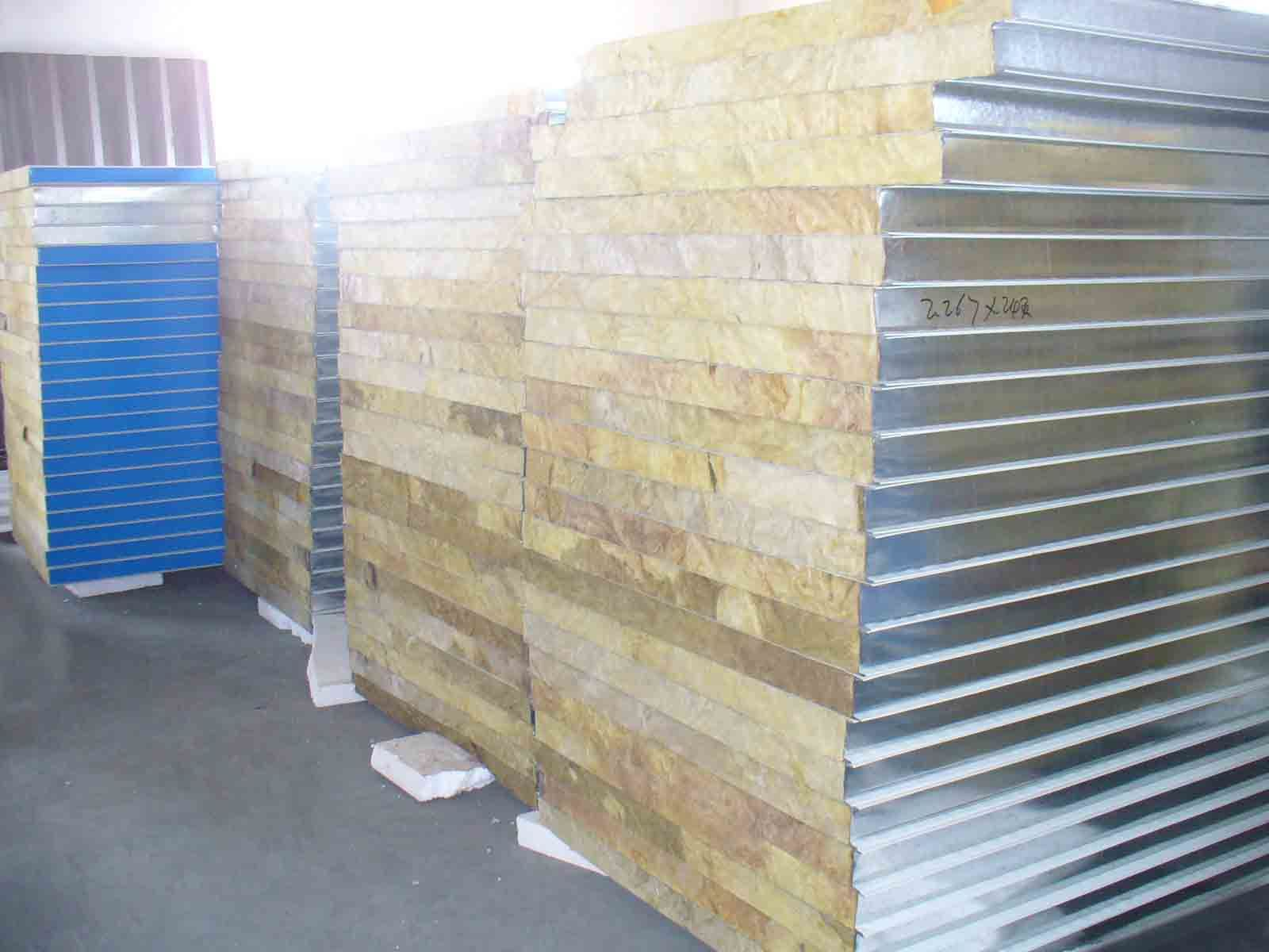 Mineral Wool Sandwich Panel : Rock wool sandwich panel photos pictures