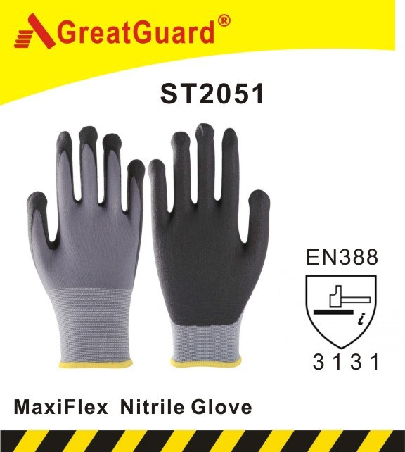 Micro Foam Nitrile Coated Glove (ST2051)