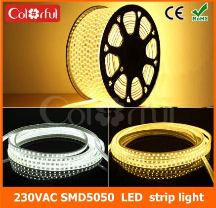 Long Life High Brightness AC230V SMD5050 LED Flexible Strip Light