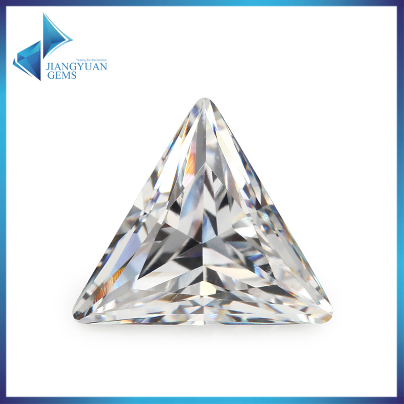 Factory Wholesale Cut Cubic Zircon Triangle Cubic Zirconia Price