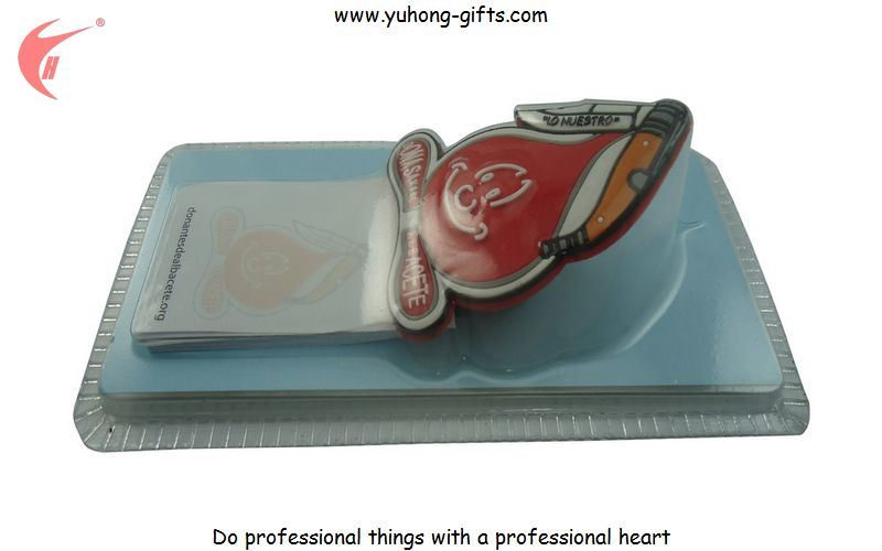 Customized Fridge Magnet with Blister Card and Paper Notebook (YH-FM099)