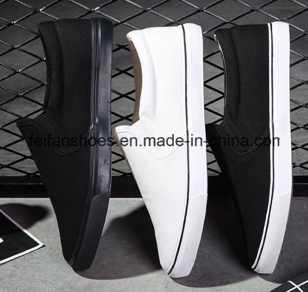Hot Sale Men Vulcanized Canvas Shoes Slip-on Casual Shoes (FF1026-03)