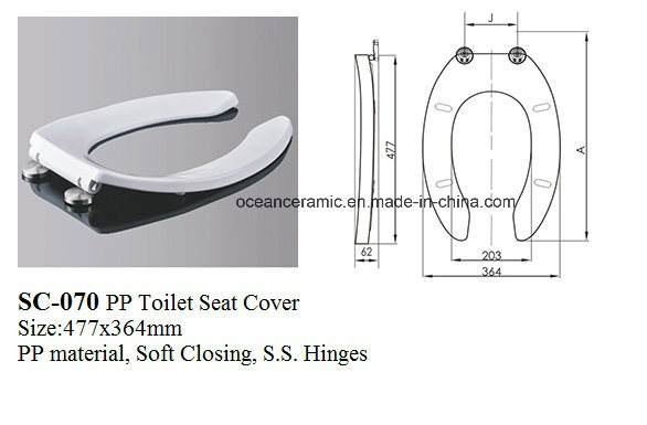 Sc-070 Soft Closing Toilet Seat for Public Toilet Bowl