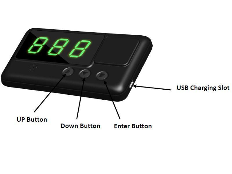 C60 Car Hud GPS Head Display Km / H Mph Overspeed Alarm Windshield Engineering Alarm System Speedometer