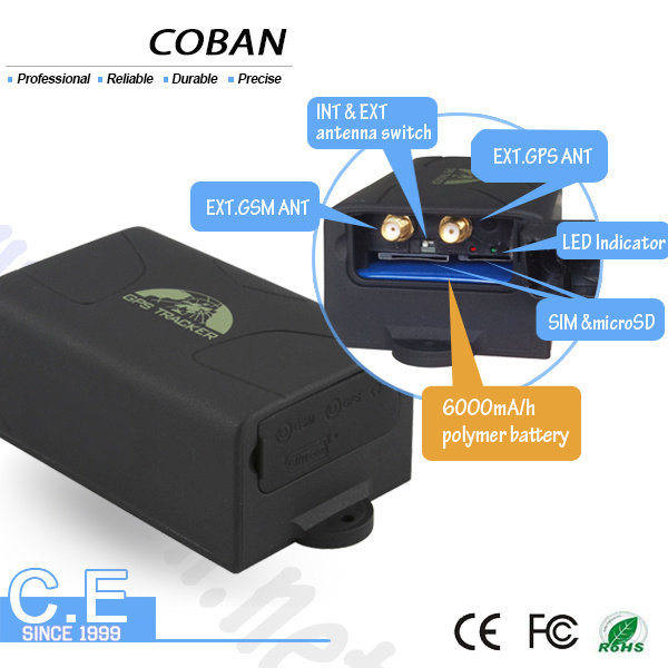 Coban Car GPS Tracker with 6000mAh Battery Long Standby Time GPS104
