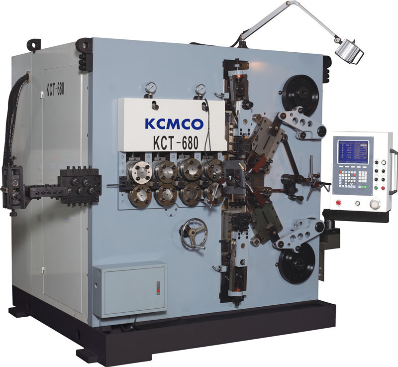 KCMCO-KCT-680 8mm 6 Axis CNC Compression Spring Coiling Machine&Big Wire Size Car Spring Coiling Machine