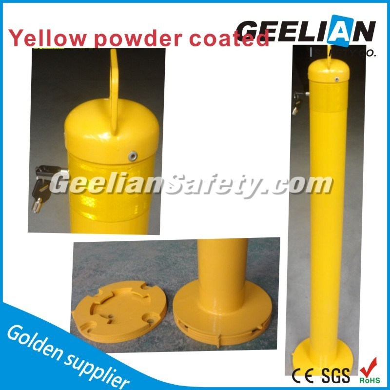 Strong and Durable Stainless Steel Bollard Barrier/ Powder Coated Metal Traffic Security Bollards