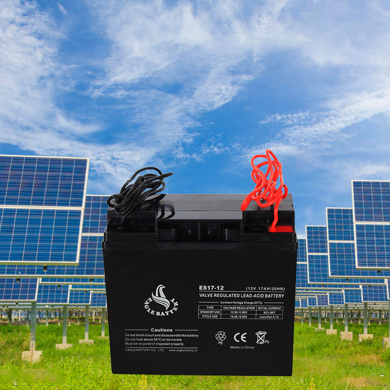 12V 17ah Maintenance Free Lead Acid Battery for Solar