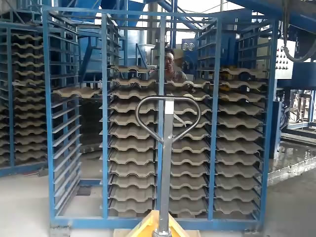 Automatic Concrete Roof Tile Making Machine Smy8-128 Cement Floor Tile Forming Machine