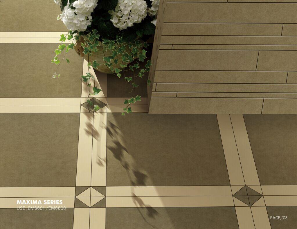 Building Material Porcelain Tiles 600*600mm Anti-Slip Rustic White Tile