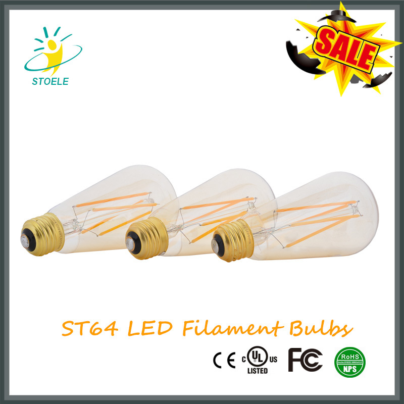 St64 Starry LED Bulb Squirrel Cage Incadescent Light Fireworks Bulb Wholesale