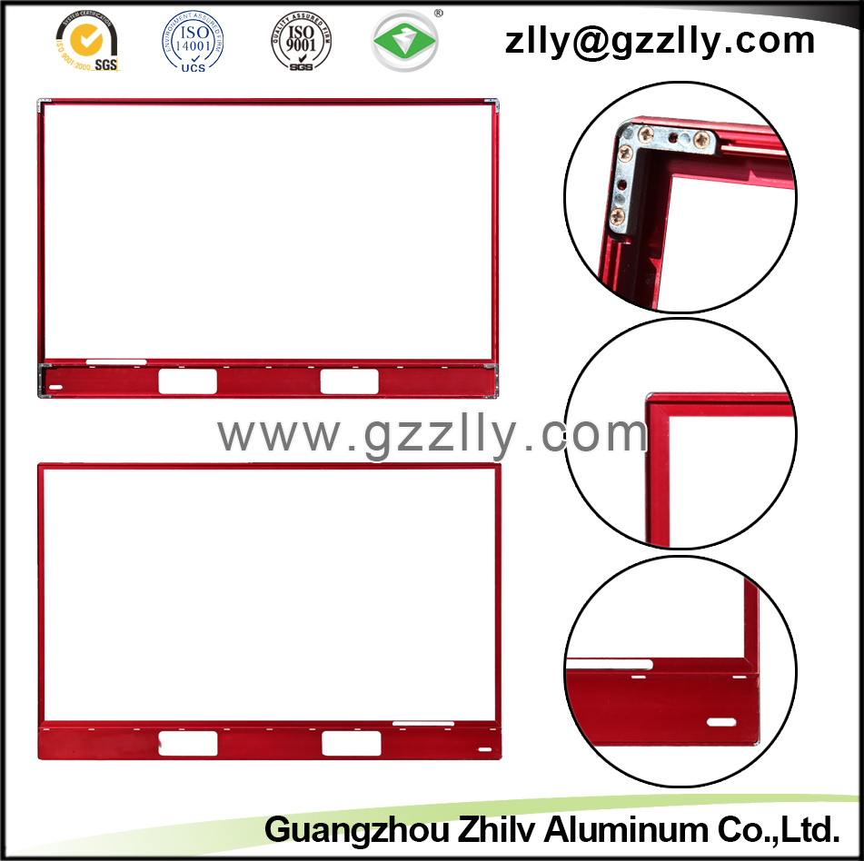 Red Aluminium Profile Accessories TV Frame for Decoration