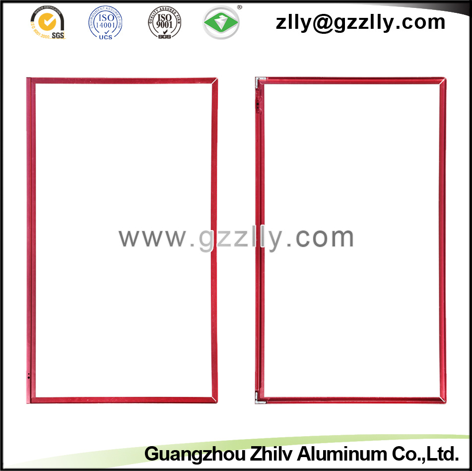 Red Aluminium Profile Accessories TV Frame for Decoration