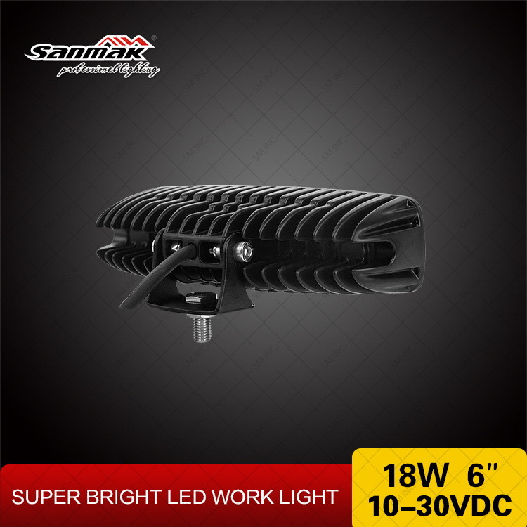 6.3 Inch 18W Marine White LED Work Light