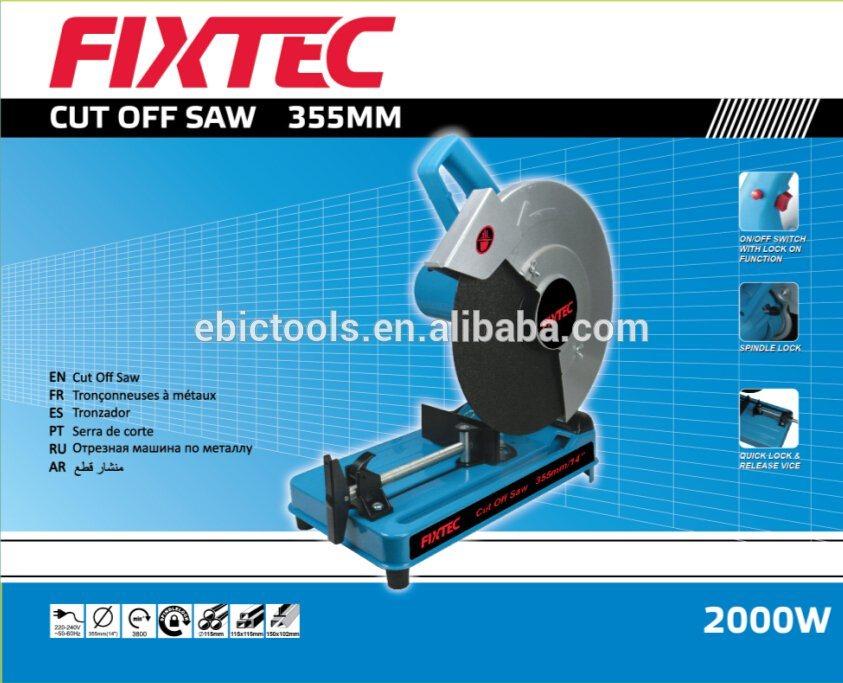 Fixtec 2000W Industrial Metal Cut off Saw of Cutting Tool Machine