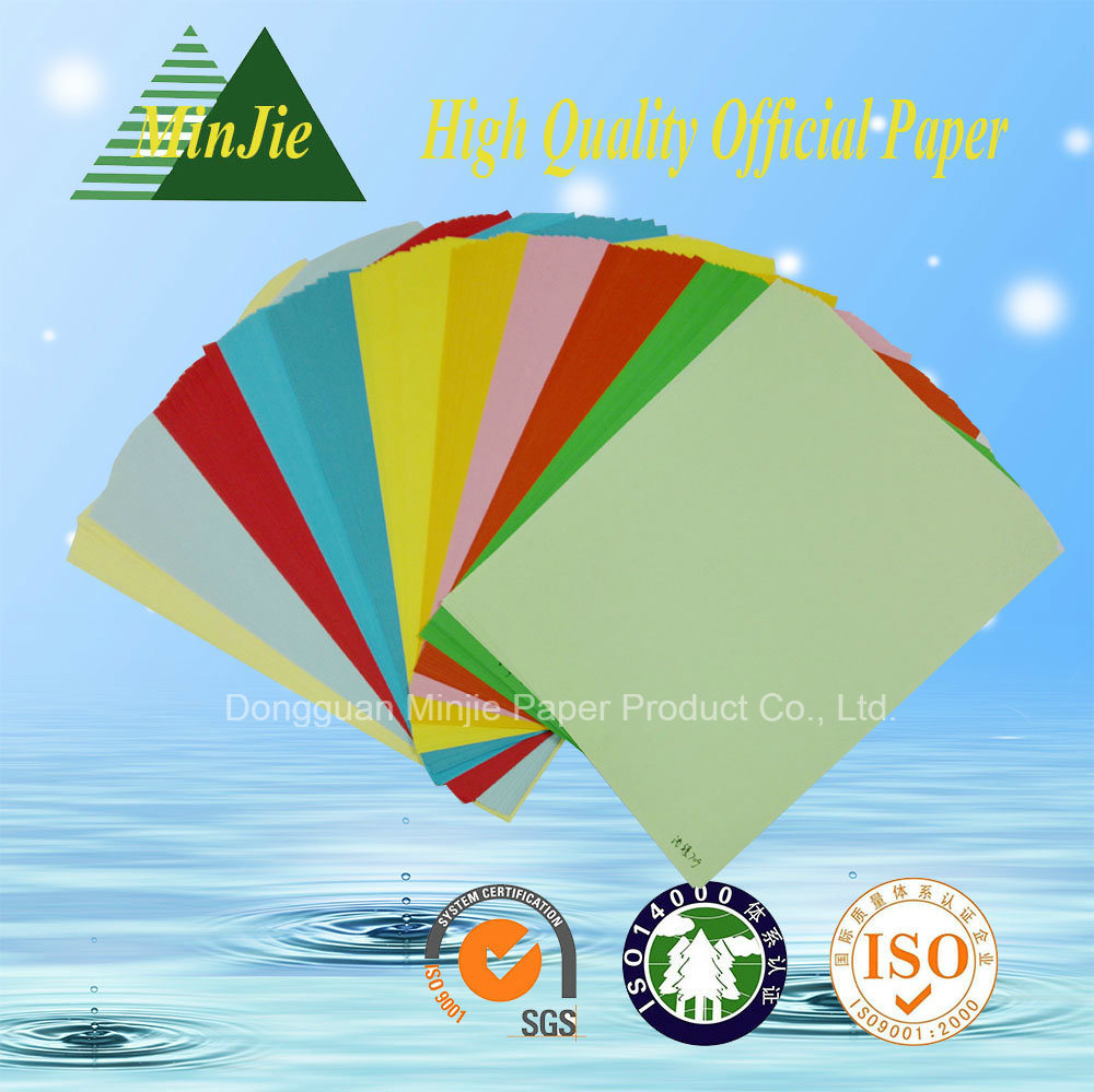 100% Wood Pulp Colorful A4 Copy Paper for School and Office Use