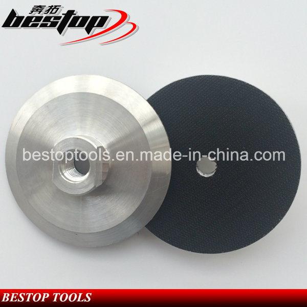 "4"" 100mm 5/8""-11 Threaded Aluminum Based Backer Pad"